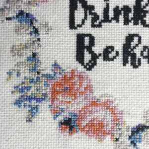 Stitch Drink Wine inspirational cross stitch pattern