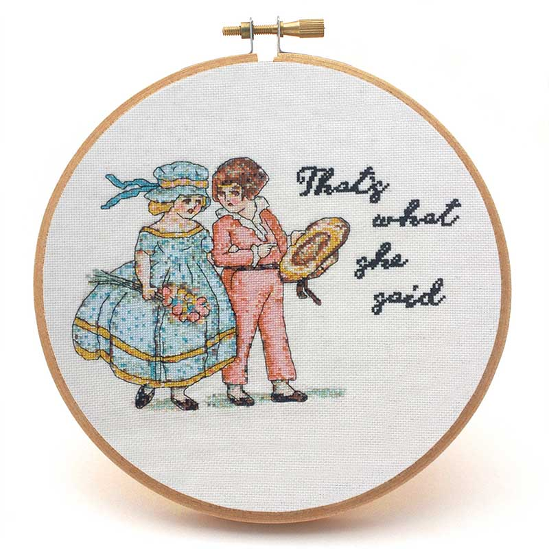 That's What She Said vintage cross stitch pattern