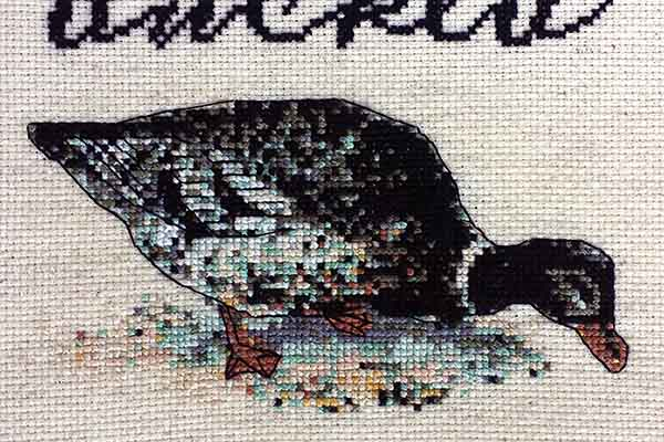 Get Ducked subversive cross stitch pattern