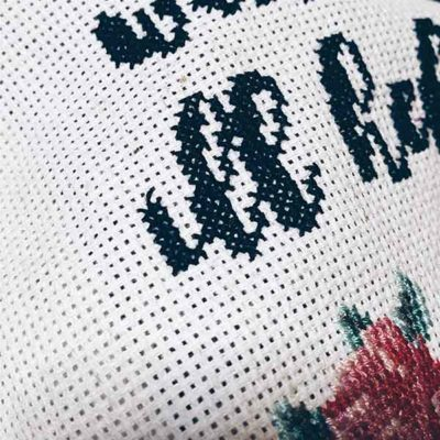 Maybe Wine Will Help fun cross stitch pattern