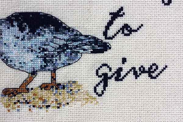 No More Ducks subversive cross stitch