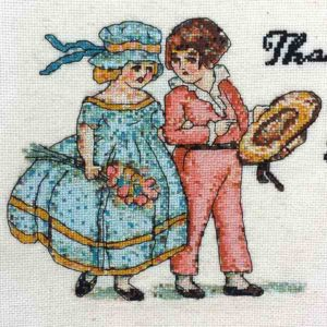 That's What She Said beginners cross stitch backstitch